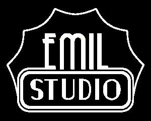 Weißes Logo Emil Studio